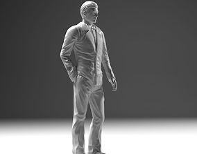 Man In Suit STL 3D print model