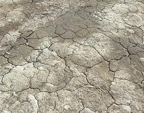 Wasteland ground texture PBR Pack 1 3D model