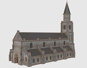 3D asset game-ready European Church - Low Poly