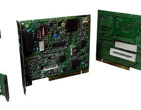 3D asset Ethernet Memory Card Computer Tech Machine 3
