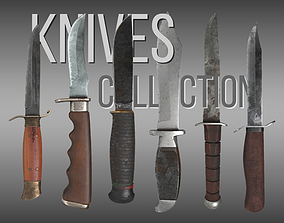 Knives Collection 3D asset