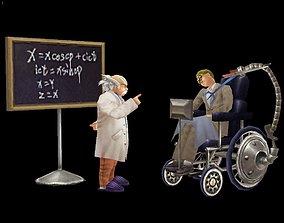 Injured scientist and prophet 3D model