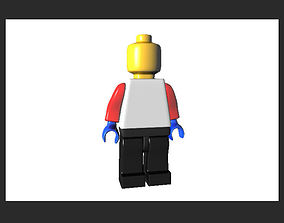 Lego Man mini fig AAA 3D asset