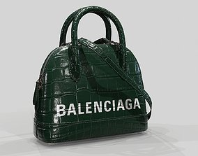 Balenciaga Ville Top Handle XXS Bag Green 3D asset