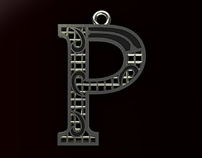 3D print model Alphabet Pendant