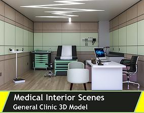 3D model EXAM ROOM -CLINIC-INTERIOR
