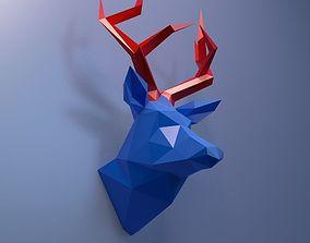 3D print model deer head
