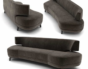 Holly Hunt mesa sofa 3d model