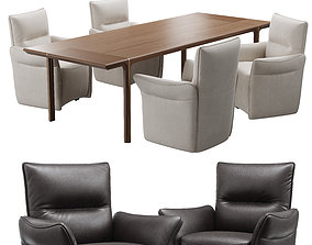 black 3D natuzzi mama chair kendo table