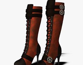 3D Steampunk Boots