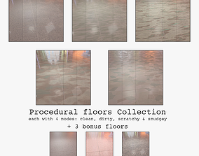 3D Floor with 5 procedural floor shaders