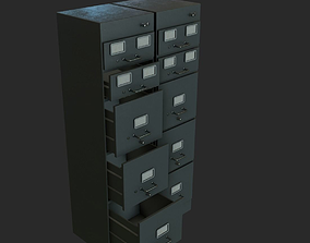 Filing cabinet 3D asset