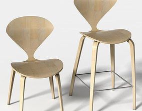 Barstool and side chair Norman 3D