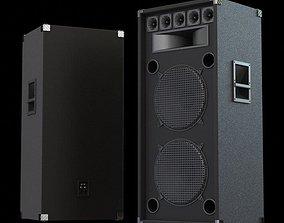 3D model Big Black Speakers