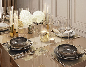 Tableware by Kelly Hoppen 3D model