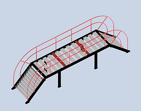 3D print model Simple Steel Stair Bridge