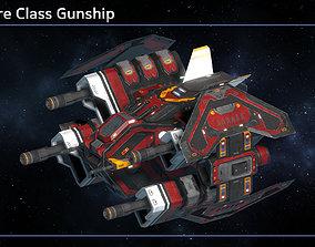 Spaceship Gunship Crossfire 3D asset