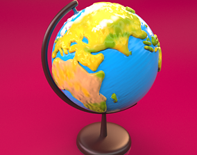 Globe model fully UVed non overlapped