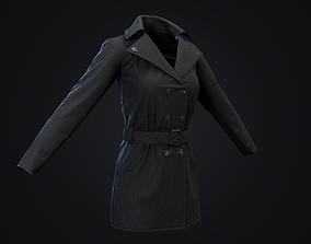 3D asset Female Jacket