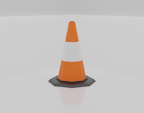 Traffic Cone 3D model VR / AR ready 3d
