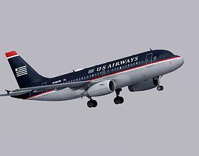 3D model Airbus A319 US Airways