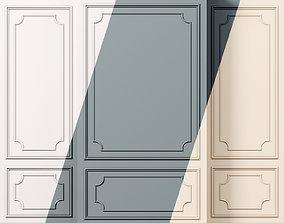 3D model Wall molding 12 Boiserie classic panels