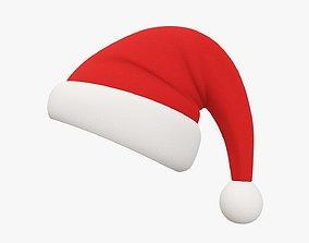 Christmas Santa Claus hat 03 3D model
