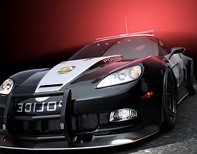 3D model SuperVette Police Car
