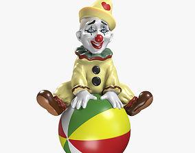 Clown on the Ball 3D Model VR / AR ready