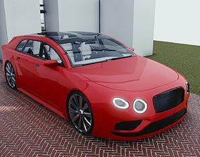 BLENDER EEVEE Brandless Small 4 door 3D model