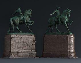 3D model paul revere Bronze statue