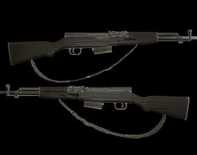 Self-loading carbine Simonov 3D model
