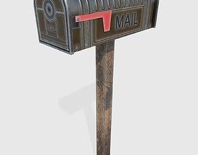 3D asset VR / AR ready MailBox urban