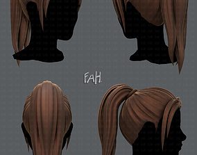 hairstyle VR / AR ready 3D Hair style for woman V02
