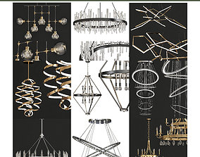 Chandeliers collection 3d models 10 pieces game-ready