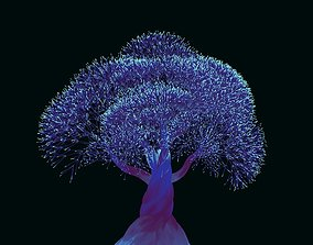 3D model animated Whimsical Tree