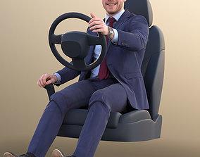 10953 Robb - Business Man Driving A Car 3D