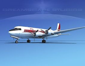 3D Douglas DC-6 PSA