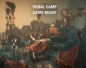 Tribal camp 3D asset