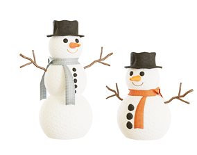 FREE Snowman Christmas and New years thank gift 3D model
