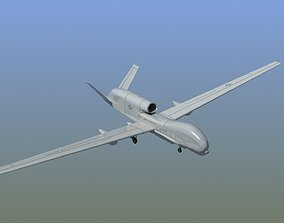 3D RQ-4 Global Hawk Drone