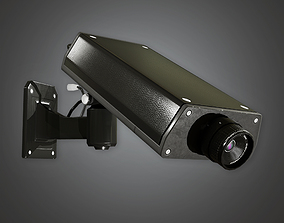 3D asset Security Camera 1 BHE - PBR Game Ready
