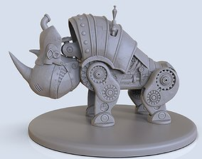 3D printable model rhinoceros steampunk