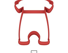 Romper cookie cutter for professional 3D print model