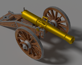 military Cannon 3D model