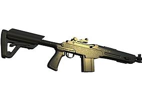 3D printable model Springfield Armory M1A SOCOM 16 CQB 1