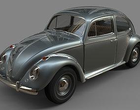 3D Volkswagen Beetle retro
