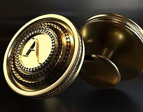 3D printable model Luxury Cufflink with alphabet A