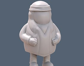 lonko 3D print model Mapuche toy for paint