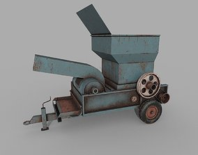 Old Rusted Hay Maker Machine PBR 3D asset